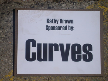 Kathy Kyle sponsored by Curves for Women in Mt Vernon Chalk the Walk